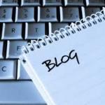 blog written on paper