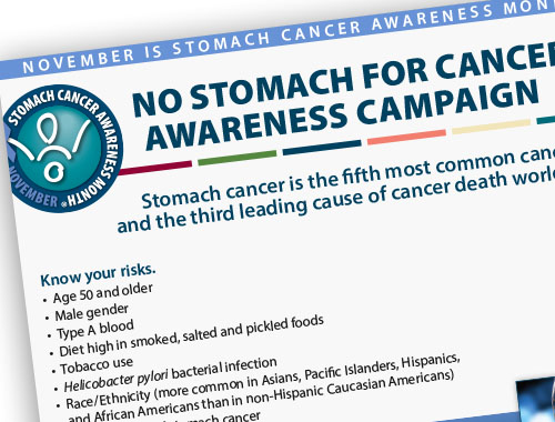 Stomach Cancer Awareness Flyer Nov 2015